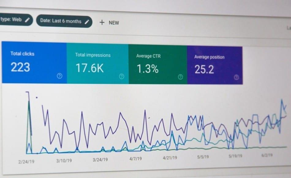 Analytics shown on a computer