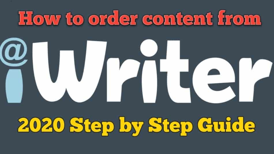 ordering content from iwriter